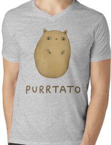 Purrtato Mens V-Neck T-Shirt
