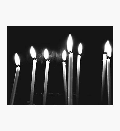 Candle Light Abstract In Church Photographic Print
