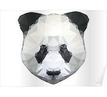 Geometric Panda Face Poster