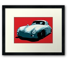Porsche 356 pop art Framed Print