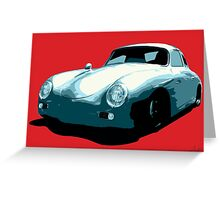 Porsche 356 pop art Greeting Card
