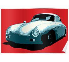 Porsche 356 pop art Poster