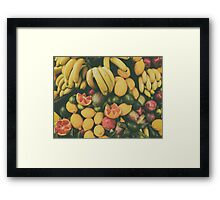 Tropical Summer Fruits In Fruit Market Framed Print