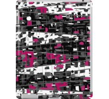 Magenta, gray and white abstraction iPad Case/Skin