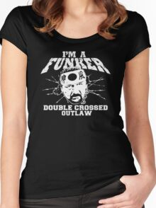 "ECW Terry Funk ""I'm a Funker T shirt"" White Women's Fitted Scoop T-Shirt"