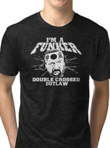 "ECW Terry Funk ""I'm a Funker T shirt"" White Tri-blend T-Shirt"