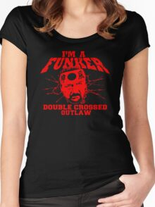 """ECW Terry Funk """"I'm a Funker T shirt"""" Red Women's Fitted Scoop T-Shirt"""