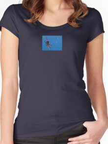 """Squizard"" with bubbles - small design Women's Fitted Scoop T-Shirt"