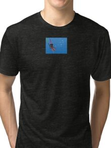 """""""Squizard"""" with bubbles - small design Tri-blend T-Shirt"""