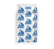 Blue Sailing Boat Duvet Cover