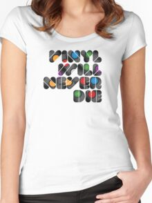 Vinyl will never die Women's Fitted Scoop T-Shirt