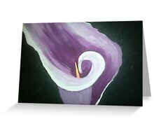 Purple & White flower Greeting Card