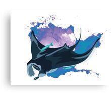 Manta Ray Space Canvas Print