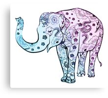 Floral Elephant Art Patterns Canvas Print