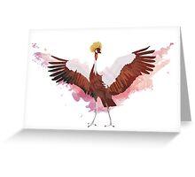 Crested Crane Greeting Card