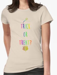 Trick or Treat? Womens Fitted T-Shirt
