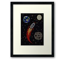Space Knit Framed Print