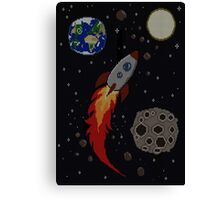 Space Knit Canvas Print