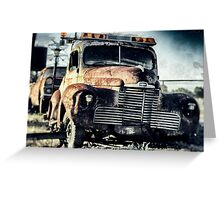 The old Tow Truck Greeting Card