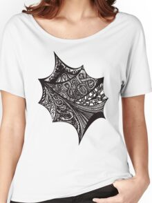 Black & White graphic abstract pattern Women's Relaxed Fit T-Shirt