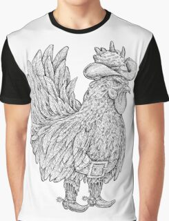 Wild West Rooster  Graphic T-Shirt