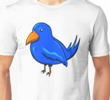 Blue Cartoon Bird Unisex T-Shirt