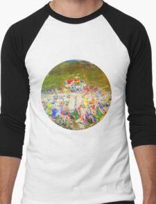 Tibet Flags Mountaintop Men's Baseball ¾ T-Shirt