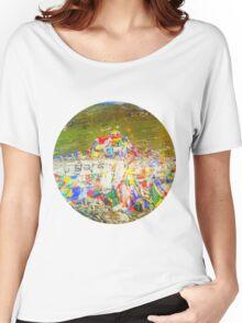 Tibet Flags Mountaintop Women's Relaxed Fit T-Shirt