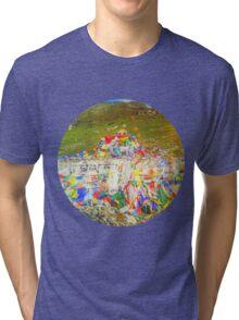 Tibet Flags Mountaintop Tri-blend T-Shirt