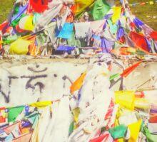 Tibet Flags Mountaintop Sticker