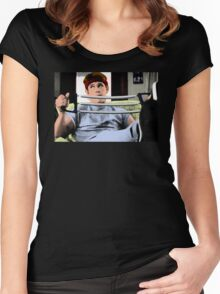 80's Heartthrob BRAND The Goonies Josh Brolin Women's Fitted Scoop T-Shirt