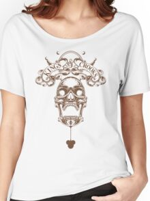 Kings&Crooks Brown Skull Women's Relaxed Fit T-Shirt
