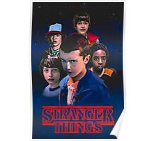 stranger things eleven and friends Poster