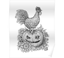 Halloween Rooster (and Mice) :D Poster