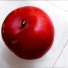 Red Plum on a White Cloth by LouiseK