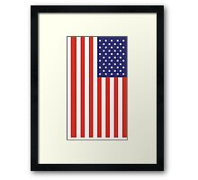 American Flag, FULL COVER, Stars & Stripes, Pure & Simple, America, USA Framed Print