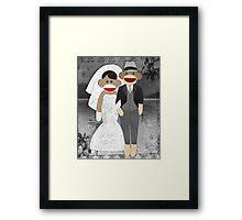 Sock Monkey Wedding Framed Print