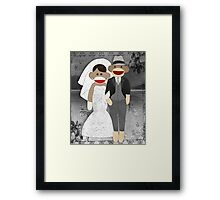 Sock Monkey Wedding Framed Print