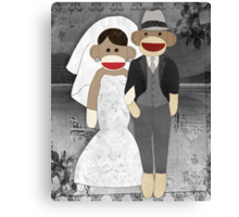 Sock Monkey Wedding Canvas Print