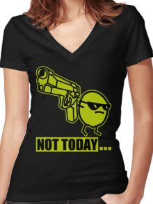ASDF Movie - Not Today Potato Women's Fitted V-Neck T-Shirt
