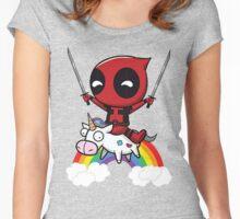 deadpool art Women's Fitted Scoop T-Shirt
