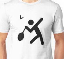 Badminton Stickman Unisex T-Shirt