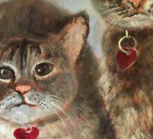 Pet Portrait Example Sticker