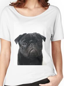 Hugo - The Black Pug Women's Relaxed Fit T-Shirt