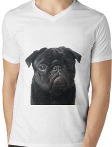 Hugo - The Black Pug Mens V-Neck T-Shirt