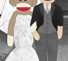 Sock Monkey Wedding Sticker