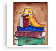 Devoured by Bookworms Canvas Print