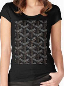 Goyard Black Women's Fitted Scoop T-Shirt