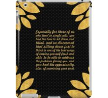 "Especially for those of us... ""Nelson Mandela"" Inspirational Quote iPad Case/Skin"