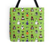 Halloween Pugs and Bats Tote Bag